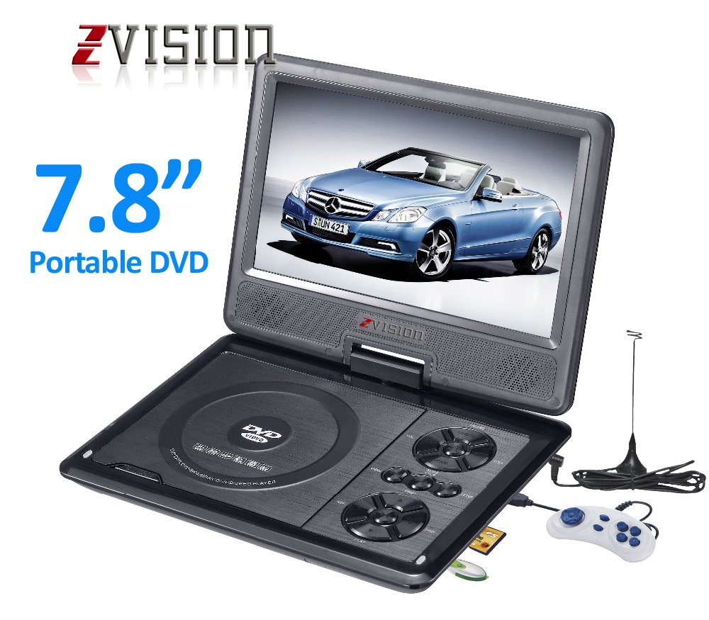 Portable Dvd Player Buy Online At Best Prices Kabel Rca 3 Ke Male Kitani Sj0039 Zvision 3d 78 Inch Vcd Cd Mp3 Mp4 Color Tv Usb Memory Card