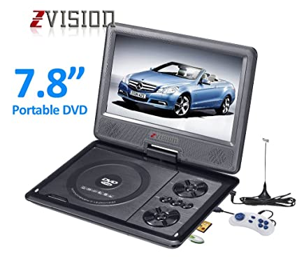 ZVision 3D 7 8 Inch Portable DVD VCD CD Player MP3 MP4 Color TV USB Memory  Card Slot
