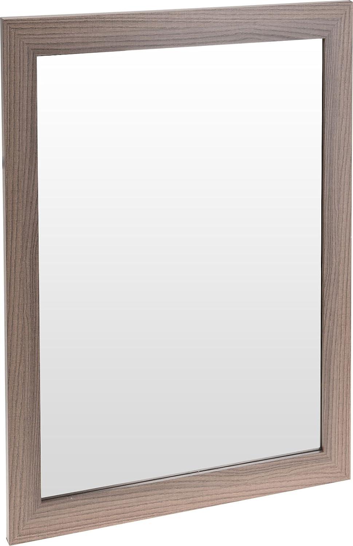 Holz Wandspiegel - 50x40 cm - Badspiegel Garderobenspiegel Flurspiegel Spiegel Spetebo