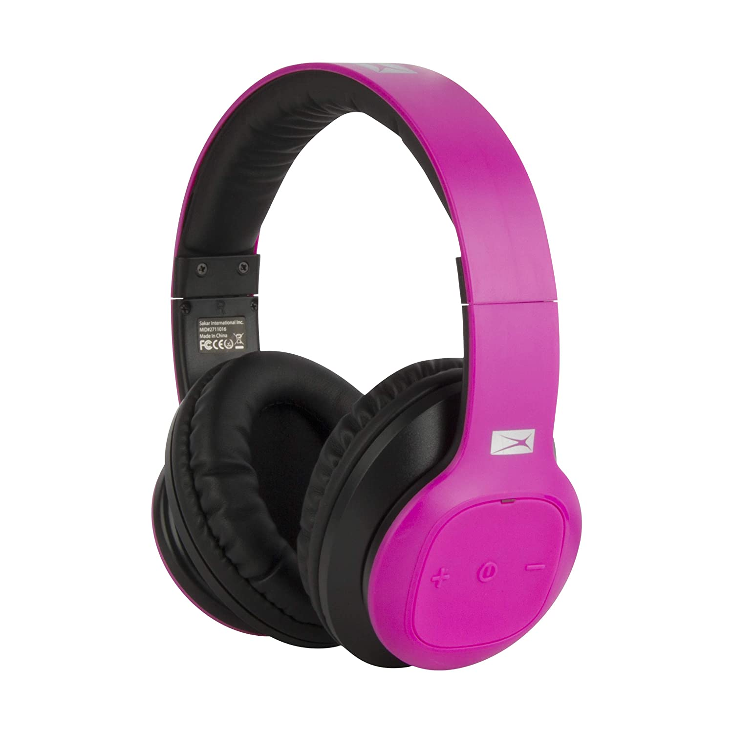 Altec Lansing MZX300-PNK Wireless Over Ear Bluetooth Headphones with Microphone, Pink