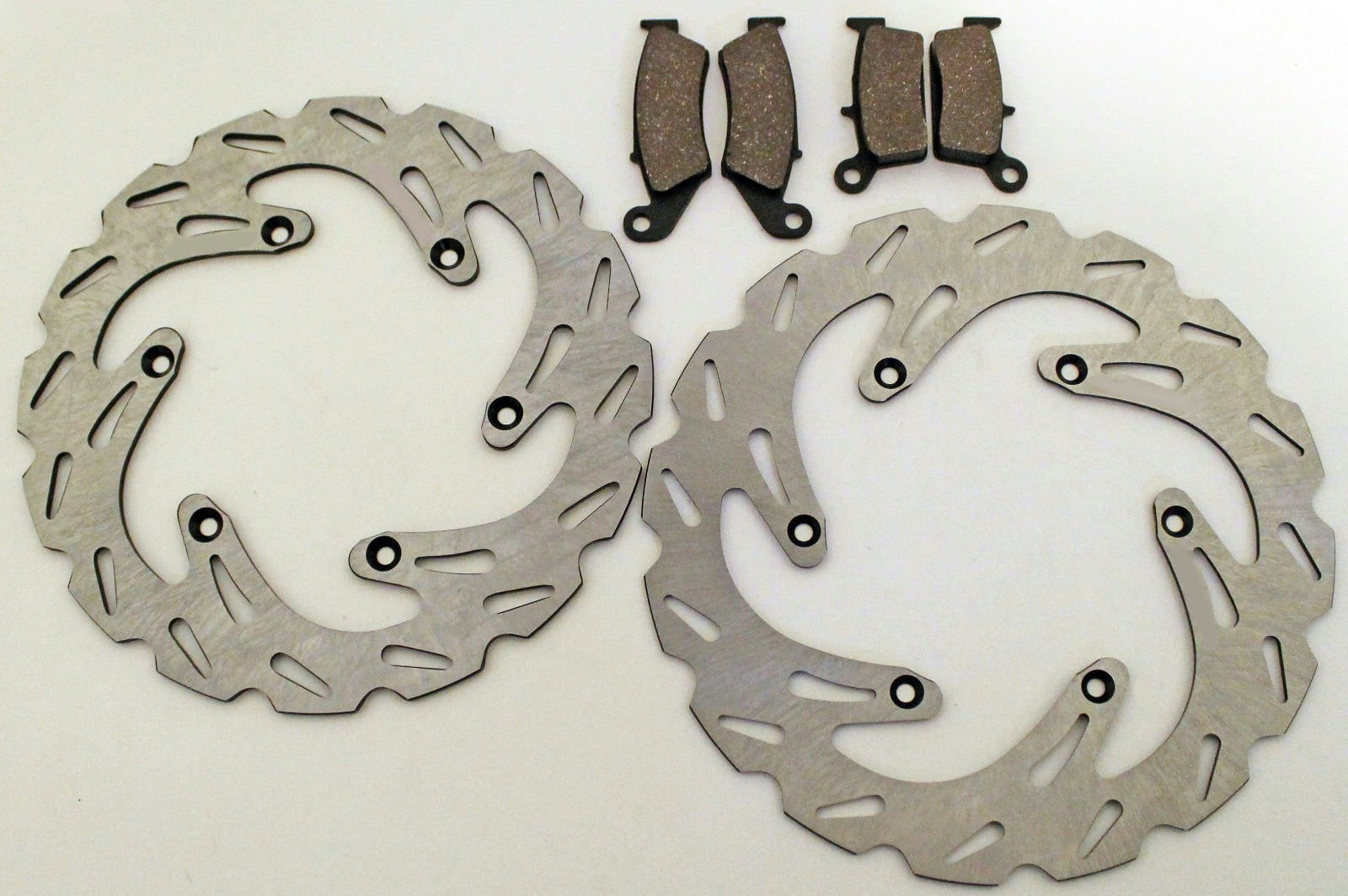 Suzuki 1999-2005 RM125/RM250 Front And Rear Brake Pads And Sport Brake Rotors