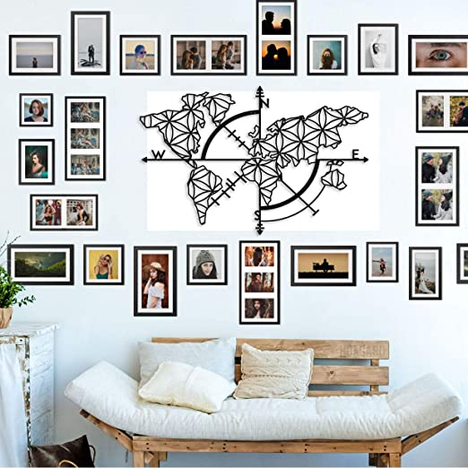 Bekata Colección de arte de pared de metal para sala de estar ...