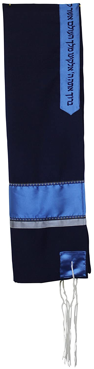 Majestic Giftware Gift Bag Tallis Viscose Solid 42 x 64 Blue Ronit Gur RGTM102-FULL