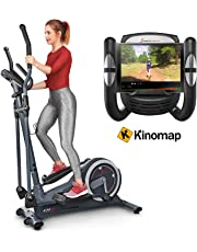 Sportstech CX625 Cross Trainer - Compatible with Smartphone App, 24 kg Flywheel + 22 Training Programs with HRC Function + Tablet Holder + Multifunctional Interface - with Kinomap
