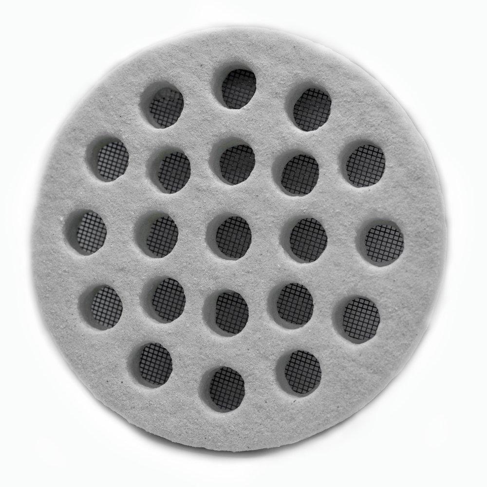/redonda 14/cm efecto piedra Rejilla decorativa para ventilaci/ón y ventilaci/ón de exterior/