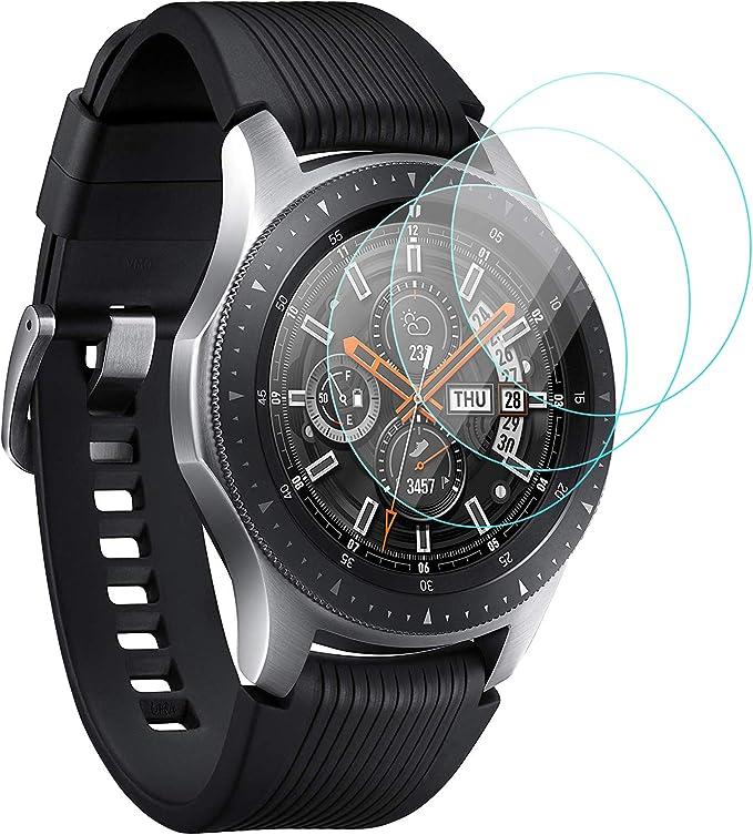 KIMILAR Pantalla Compatible con Samsung Galaxy Watch 46mm / Gear S3 Protector Pantalla, Templado Vidrio Compatible con Galaxy Watch 46mm & Gear S3 Frontier/Classic - 9H Dureza Anti-rasguñe: Amazon.es: Electrónica