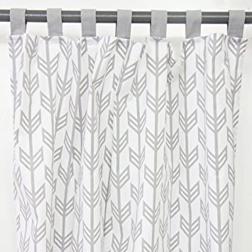 Amazing Caden Lane Grey Arrow Curtain Panels