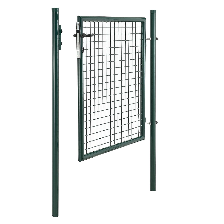 pro.tec] Gartentor verzinkt (200x106cm) grün - inklusive Schloss und ...