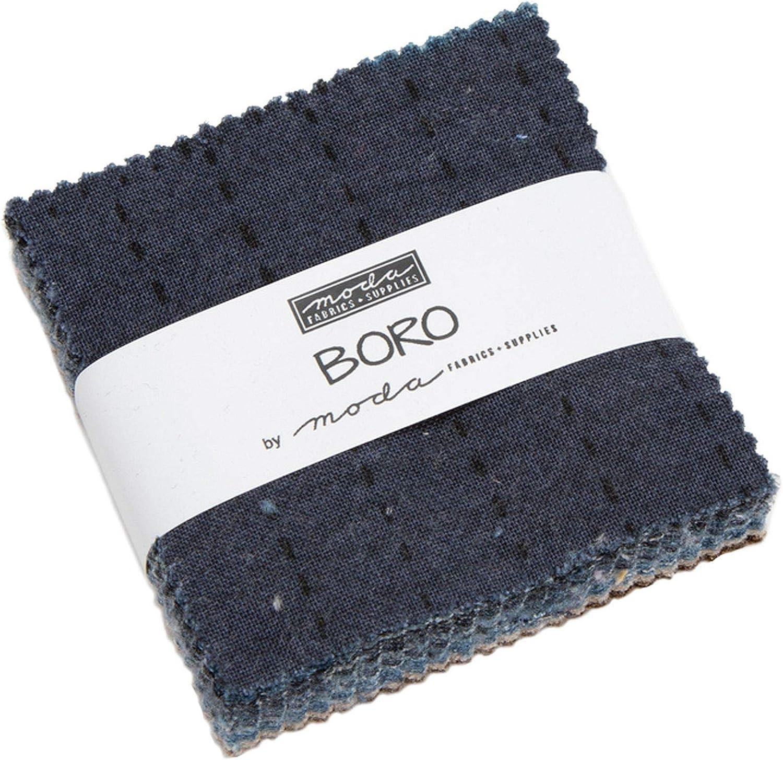 Boro Mini Charm Pack por Moda; 42-2.5 pulgadas tela precortada colcha cuadrados: Amazon.es: Juguetes y juegos