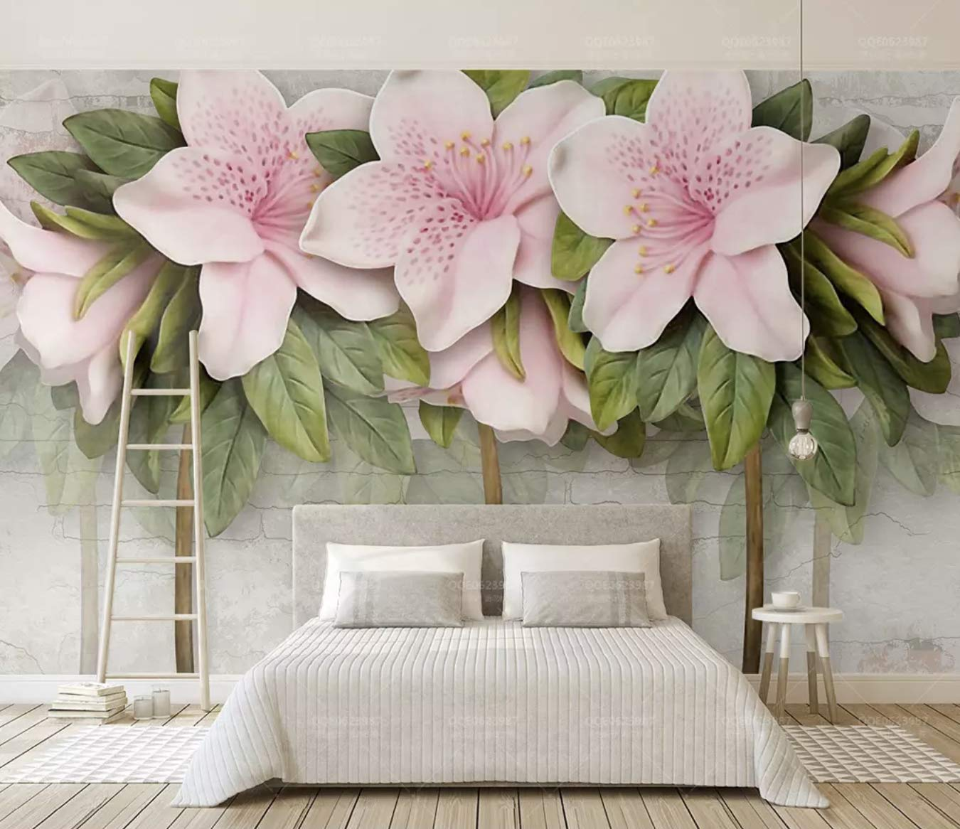 Amazon Com Murwall Floral Wallpaper Lily Flower Wall Mural 3d