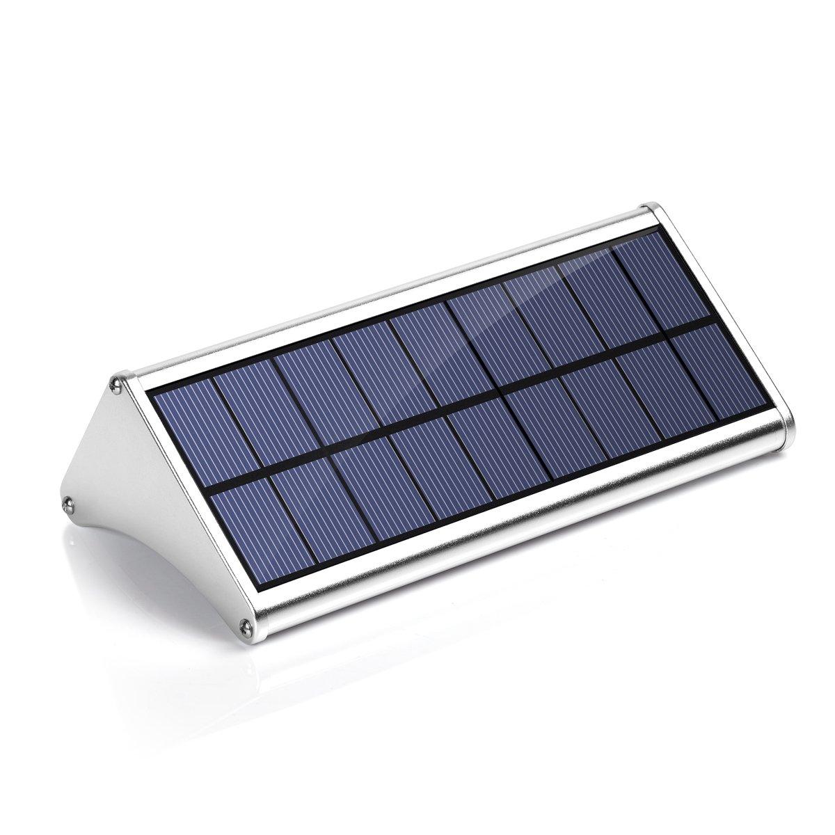 Solar Lights Outdoor- 900 Lumens 48 LEDs Aluminum Alloy Housing Wall Light- 360° Radar Motion Sensor & Multiple Intelligent Light Modes, Wall Sconces Waterproof Security for Garden Yard, Path