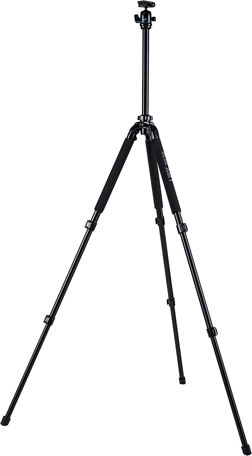 for Mirrorless//DSLR Sony Nikon Canon Fuji Cameras and More Black SLIK PRO 500HD Tripod with 3-Way Panhead//Quick Shoe 615-501