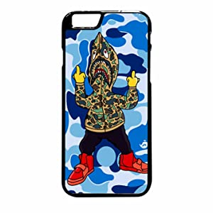 Bape Shark Hoodie Case / Color Black Rubber / Device iPhone 6 Plus/6s Plus