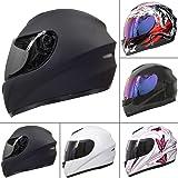 Leopard LEO-819 Full Face Motorbike Motorcycle Helmet Road Legal + Free Extra Visor