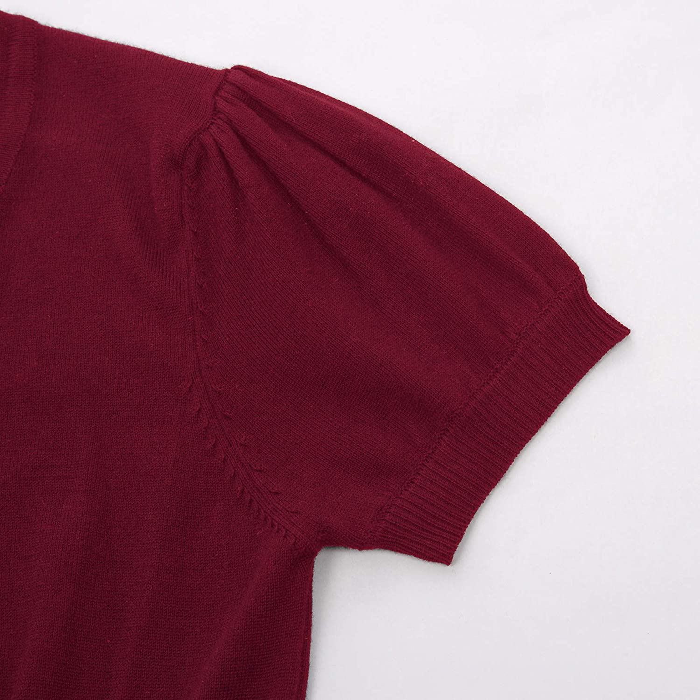 Belle Poque Camiseta de Manga Corta para Mujer C/árdigan Festivo Cuello Redondo Bolero Chaqueta Chaqueta de Hombro BP707