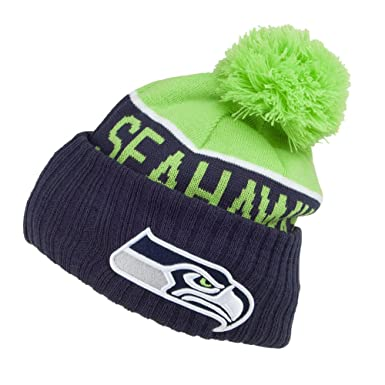 8b75818f New Era Seattle Seahawks Bobble Hat - NFL Sport Knit - Navy-Green ...