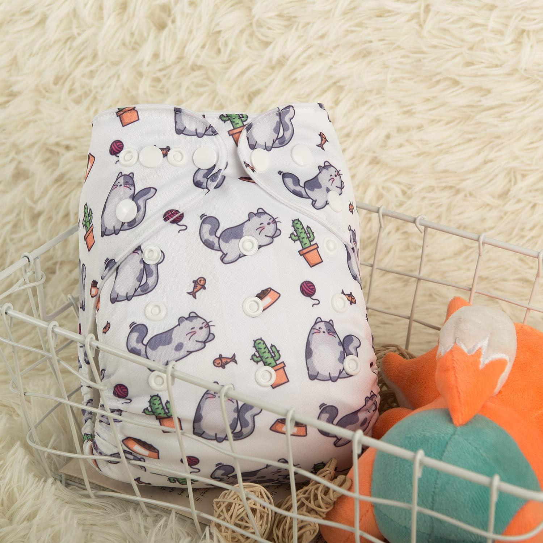 Alva beb/é 2pcs Paquete Un tama/ño reutilizable lavable Swim Pa/ñales de posicionamiento Impreso y