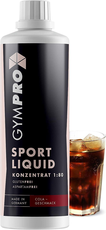 gympro Mineral Drink Low Carb Vital Drink 1: 80, 1000 ml Sirope concentrado en botella con l para bebidas de minerales, magnesio y Vitamina para ...