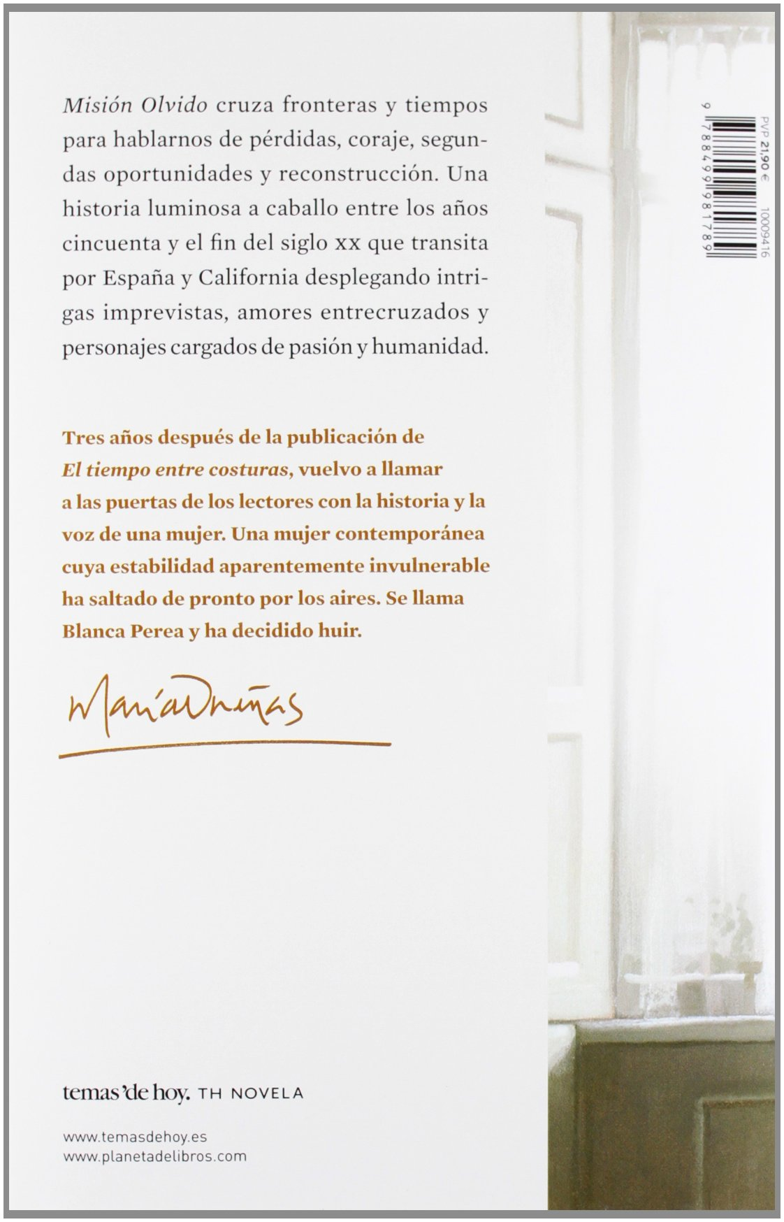 Misión olvido (TH Novela): Amazon.es: María Dueñas: Libros