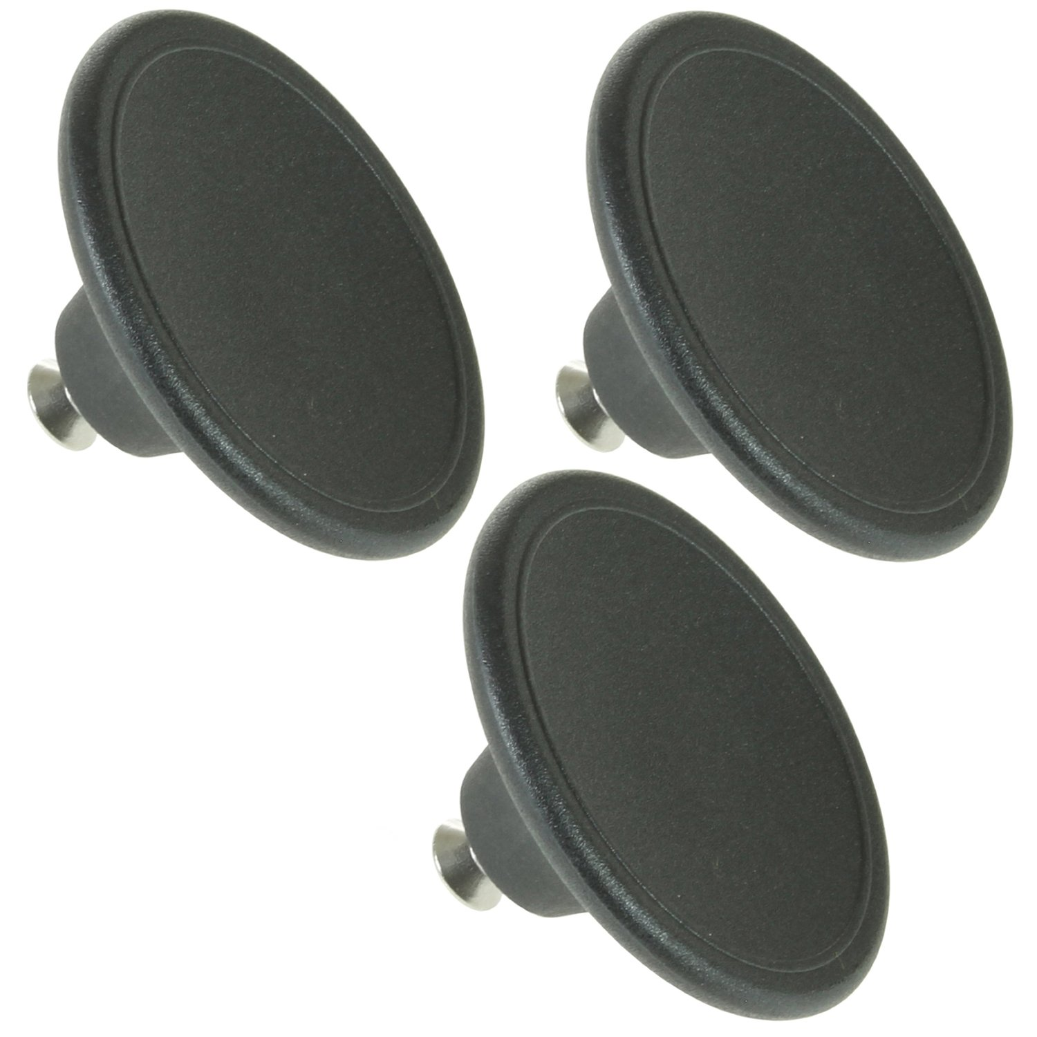 Spares2go Universal 4.5cm Small Handle Lid Knob For Pressure Cooker (Black, Pack Of 3) by Spares2go