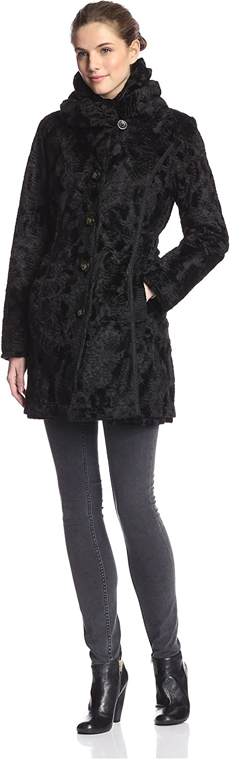 Laundry by Shelli Segal Women's Reversible Faux Fur Jacket