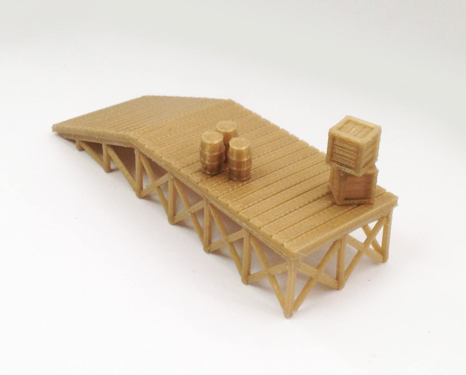 Outland Models Cash special price Train Railway Special price for a limited time Wooden Dock Style Platform Loading