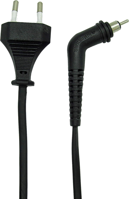 Cable de alimentación de repuesto GHD 5.0 SIRIUSHAIR® Certificado VDE para todas las versiones de GHD MK5 (Modelos V / 5.0 / 5.0 Gold / 5.0 Max Wide / 5.0 MS (Thin) / TODAS las ediciones limitadas)
