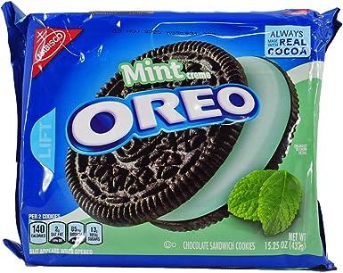 Oreo Chocolate & Cool Mint Creme Sandwich Cookies 15.25 Oz. (2 ...