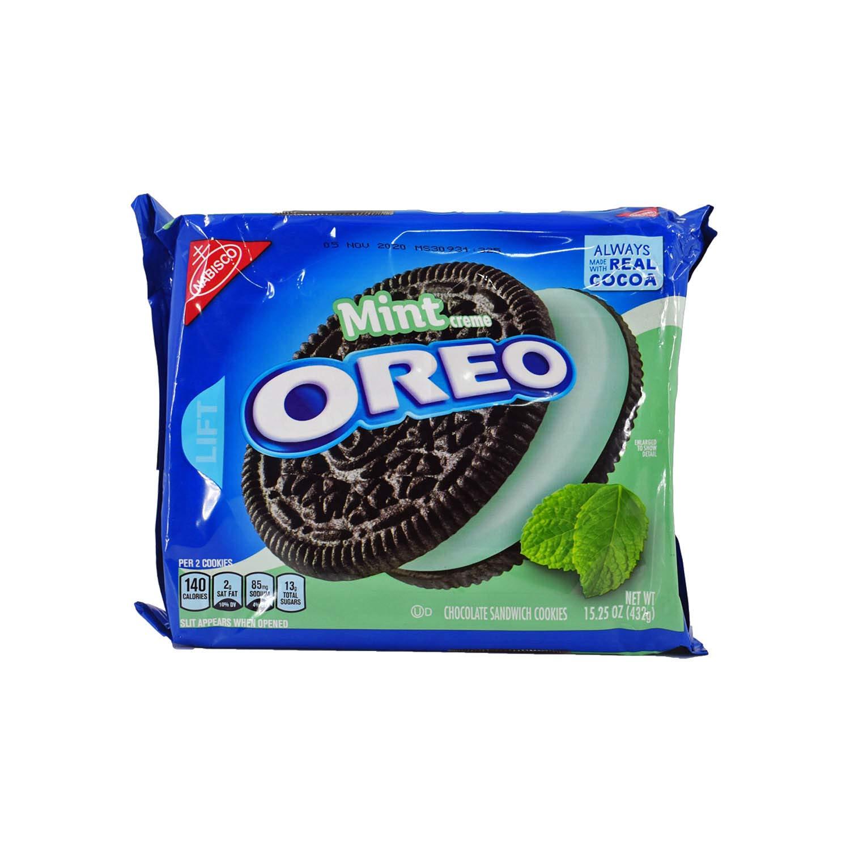 Oreo Chocolate & Mint Creme Sandwich Cookies 15.25 Oz. (2 Pack)