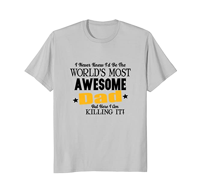 a1b0e459 Image Unavailable. Image not available for. Colour: Mens Funny Awesome Dad T -Shirt ...