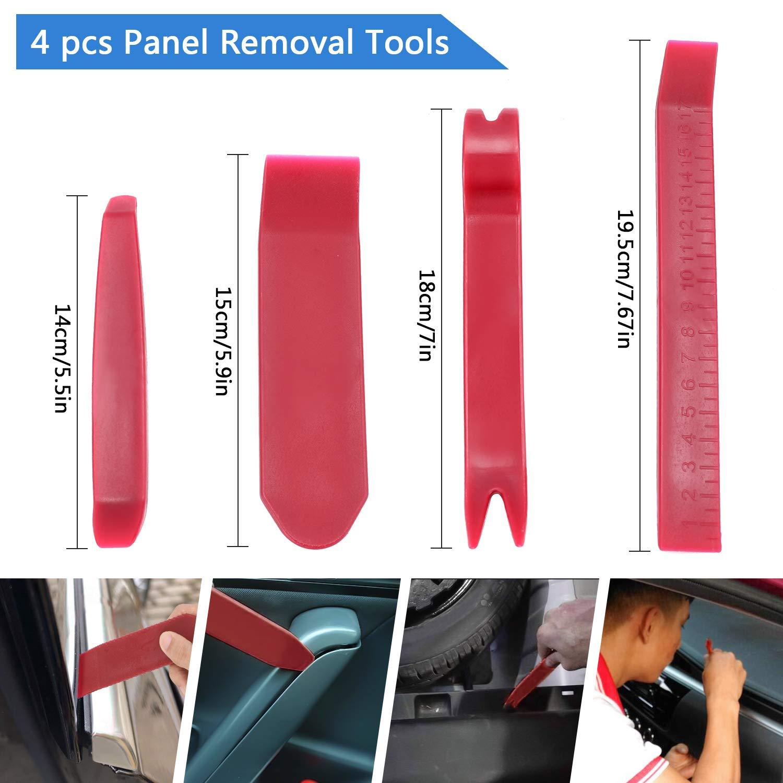 Gafild Rivetti in Plastica per Auto 625 pz 16 Dimensioni rivetti plastica Rivetti Clip Set Clip di fissaggio Rivetto Clip con dispositivo di rimozione per Interni Auto Pannello Paraurti Porta