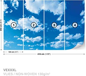 Clouds Sky Nature Wall Mural Photo Wallpaper Room Décor (1992WS)
