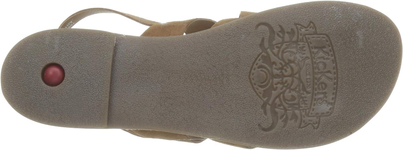 Kickers DILANI, Sandalias con Punta Abierta para Mujer, Marron (Camel 114), 37 EU: Amazon.es: Zapatos y complementos