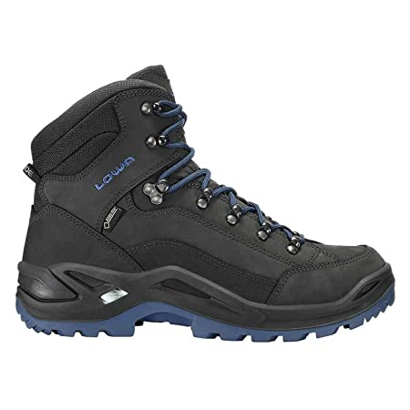 Lowa Mens Renegade Gore-Tex Mid Black Nubuck Boots 8 UK