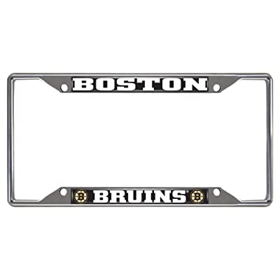 "FANMATS 14836 NHL Boston Bruins Chrome License Plate Frame , 6.25""x12.25"": Automotive"