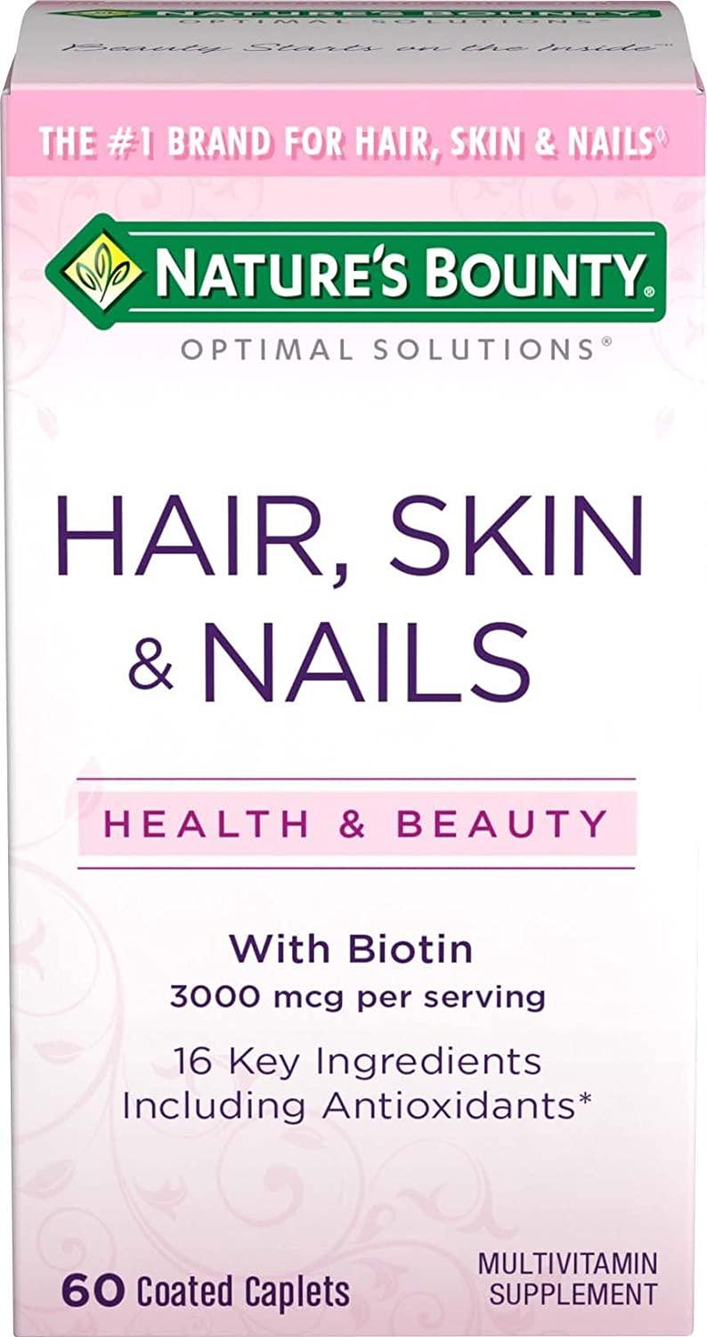 Nature's Bounty Optimal Solutions Hair, Skin and Nails Formula Tablets, 60 Count