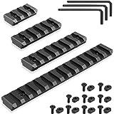 FANGOSS Mlock Picatinny Rails Section for Mlok System, 3 5 7 13 Slots Aluminum M lok Picatinny Rail Mounts Set Adapter with 9