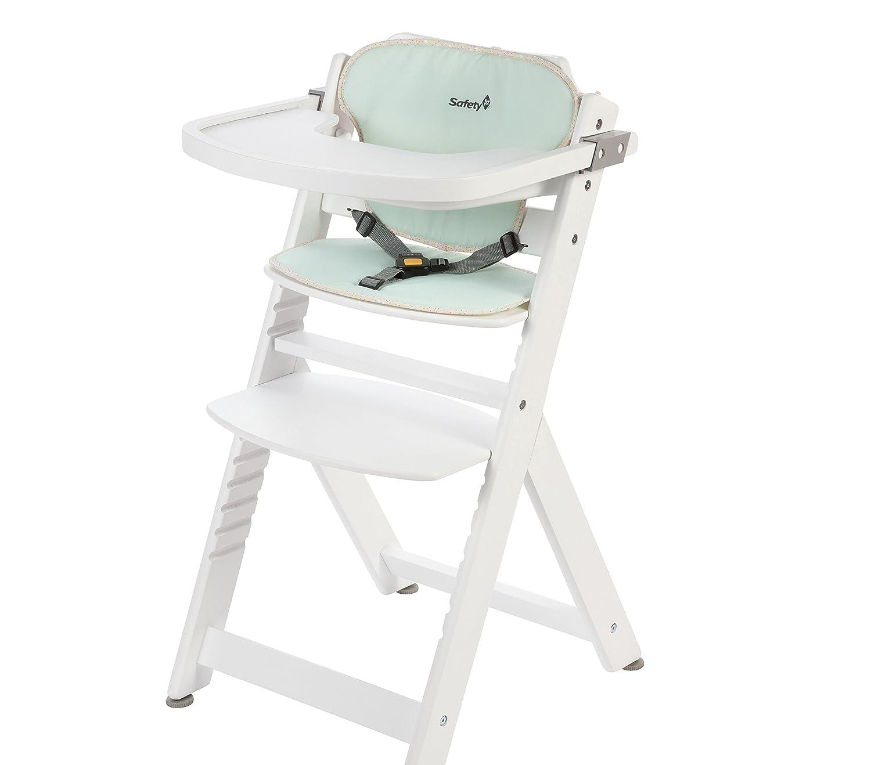 Safety 1st Timba Mitwachsender Hochstuhl, abnehmbares Tischchen, aus massivem Buchenholz, hohe Rückenlehne, ab ca. 6 Monate bis ca. 10 Jahre, max. 30 kg, grau hohe Rückenlehne 27625510