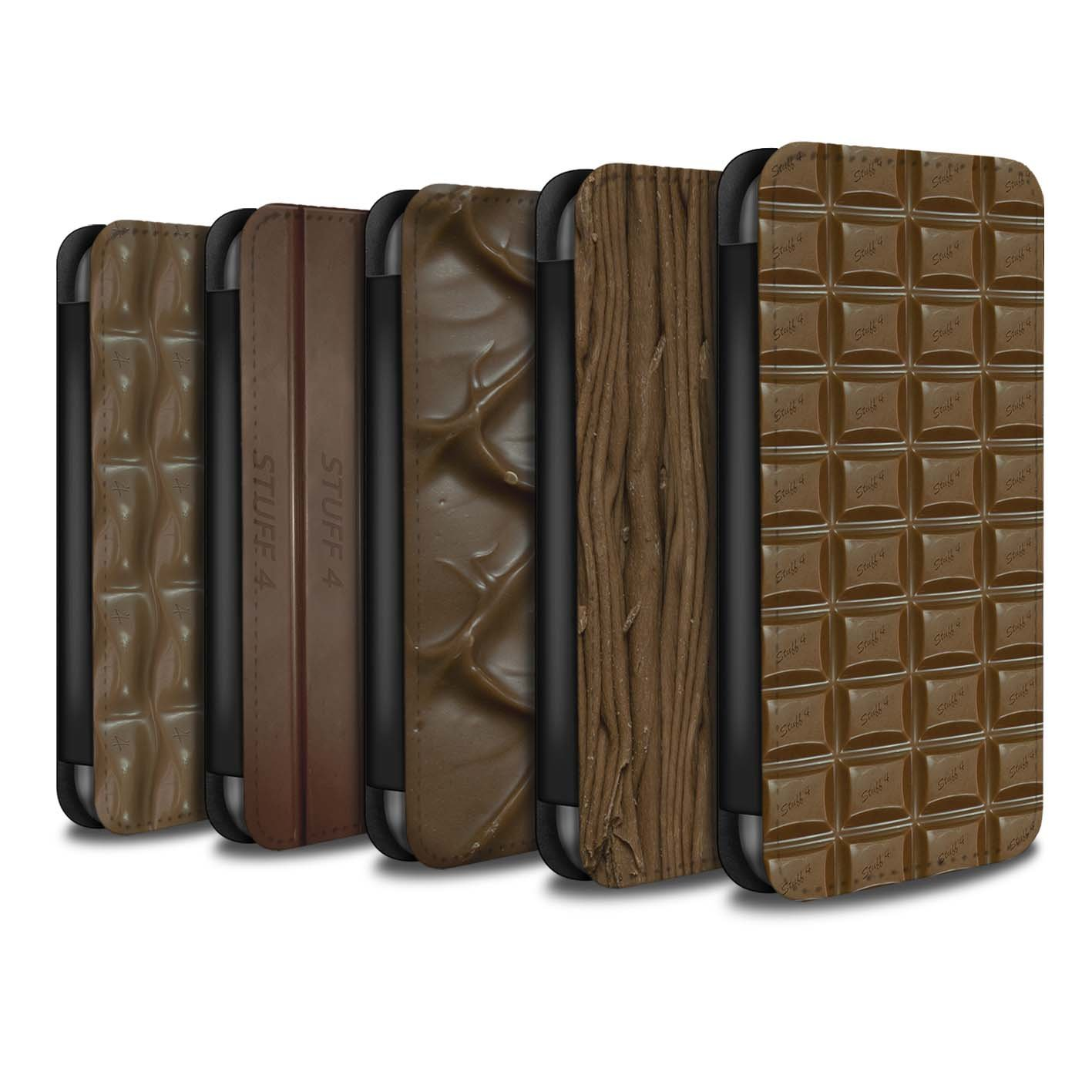 STUFF4 PU Leather Wallet Flip Case/Cover for Apple iPhone X/10 / Multipack (10 Designs) Design / Chocolate Collection