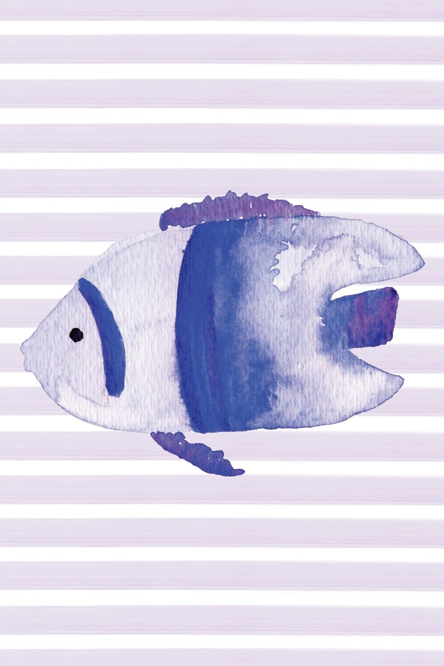 Ocean Fish Watercolor Stripe Journal: Blank Daily Writing Notebook Diary with Ruled Lines (Coastal Beaches & Nautical) pdf