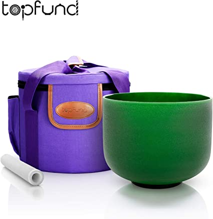 TOPFUND Purple Heavy Duty Padded Carrying Cases Set for 7 Chakra Singing Bowls Set 8-12 inch