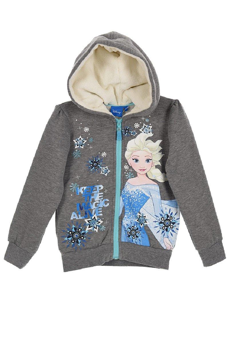 Disney Frozen Girls Hoodie Zipped Sweatshirt, Warm Cosy Jumper Jacket 2-8 Years - New 2017/18
