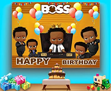 Tj Little Prince Boss Baby Theme Backdrop African American Black Boy Kids Birthday Party Photography Background Baby Shower Kids Studio Booth Props