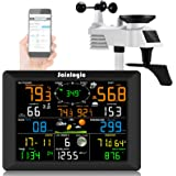 Sainlogic Professional WiFi Weather Station, Internet Wireless Weather Station with Outdoor Sensor, Rain Gauge, Weather Forec