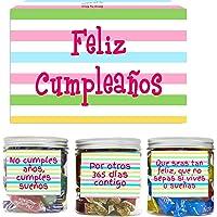SMARTY BOX Caja Regalo Caramelos y Gominolas Cumpleaños Hombre y Mujer, Pareja, Amigos, Cesta Golosinas Regalo Chuches…