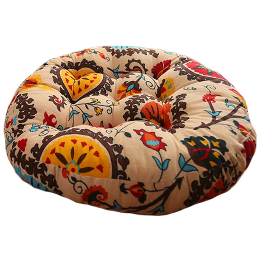 Sunflowers Cotton Linen Round Chair Cushion Floor Pillow Seating Cushion Floor Cushion Seat Pad Pillow Samdray Samdray-pillow1