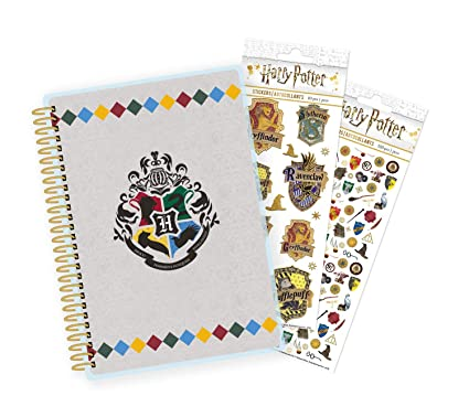 Paper House Productions SET0046 Harry Potter Mini Planner and Sticker Bundle includes 12 Month Planner Laminated Cover, 2 Sticker Styles