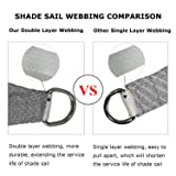 Shade&Beyond 12'x12'x17' Sun Shade Sail Triangle UV