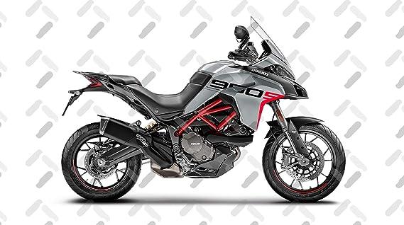 Motorrad Fairing Stickers Kit Ducati Multistrada 950 S Grand Tour Style Fs Multi 950s Glossy Gray Auto
