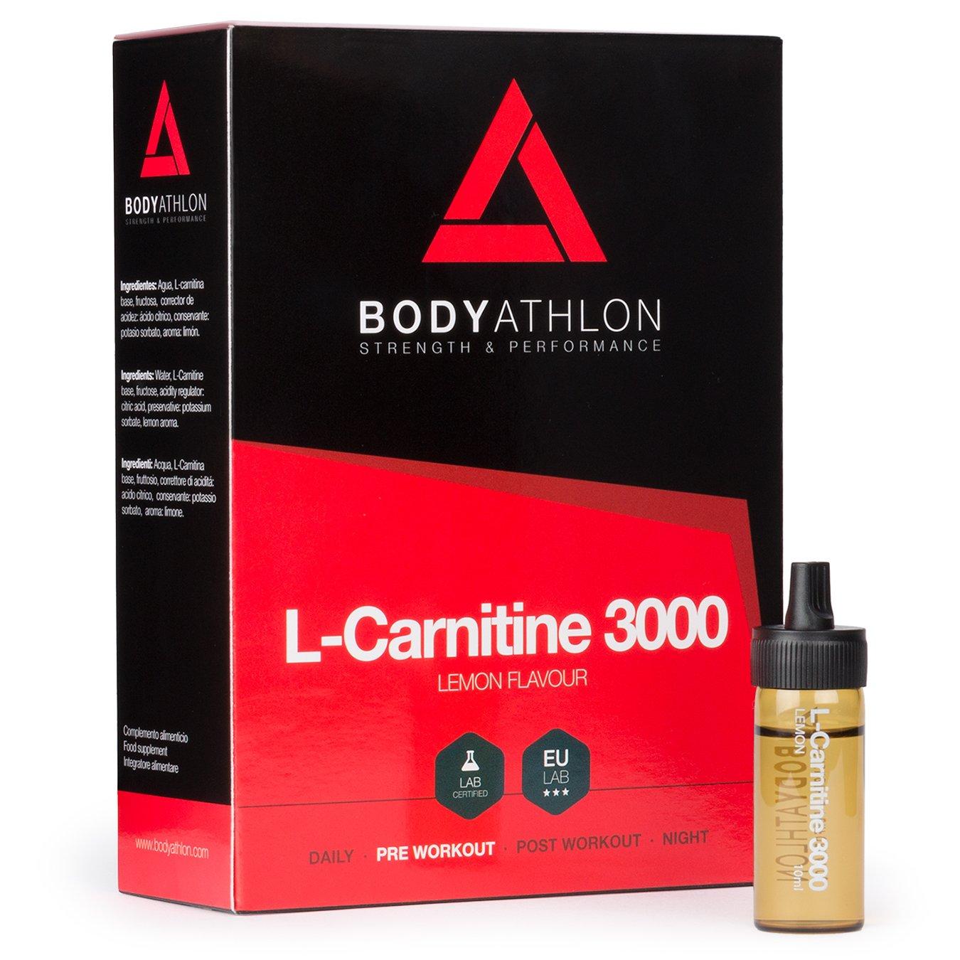 BodyAthlon L Carnitina Quemagrasas Sabor Limón Viales x ml